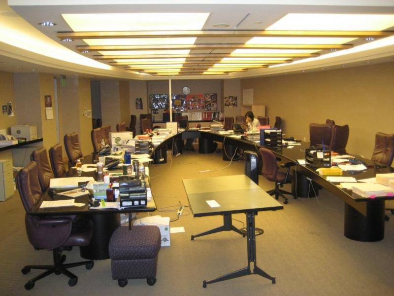The Systems Group Conference Tables - V shaped conference room table